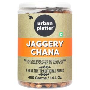 Urban Platter Jaggery Chana, 400g [Gur Chana, Deliciously Roasted Chana Coated in Jaggery]
