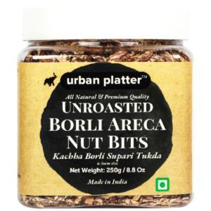 Urban Platter Unroasted Borli Areca Nut Bits, 250g / 8.8oz [Kachha Borli Supari Tukda 4-5mm Size - All Natural & Premium Quality]