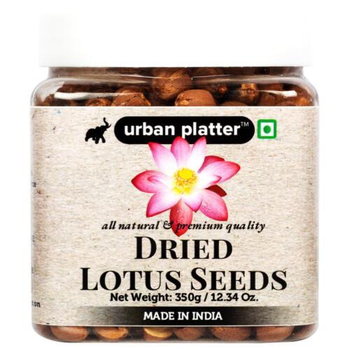 Urban Platter Dried Lotus Seeds, 350g [Premium Quality, All-natural]