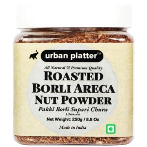 Urban Platter Roasted Borli Areca Nut Powder, 250g [Pakki Borli Supari Chura - All Natural & Premium Quality]