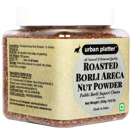 Urban Platter Roasted Borli Areca Nut Powder, 250g [Pakki Borli Supari Chura - All Natural & Premium Quality]