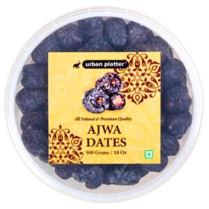 Urban Platter Ajwa Dates, 500g [All-natural, King of Dates, Premium Quality]