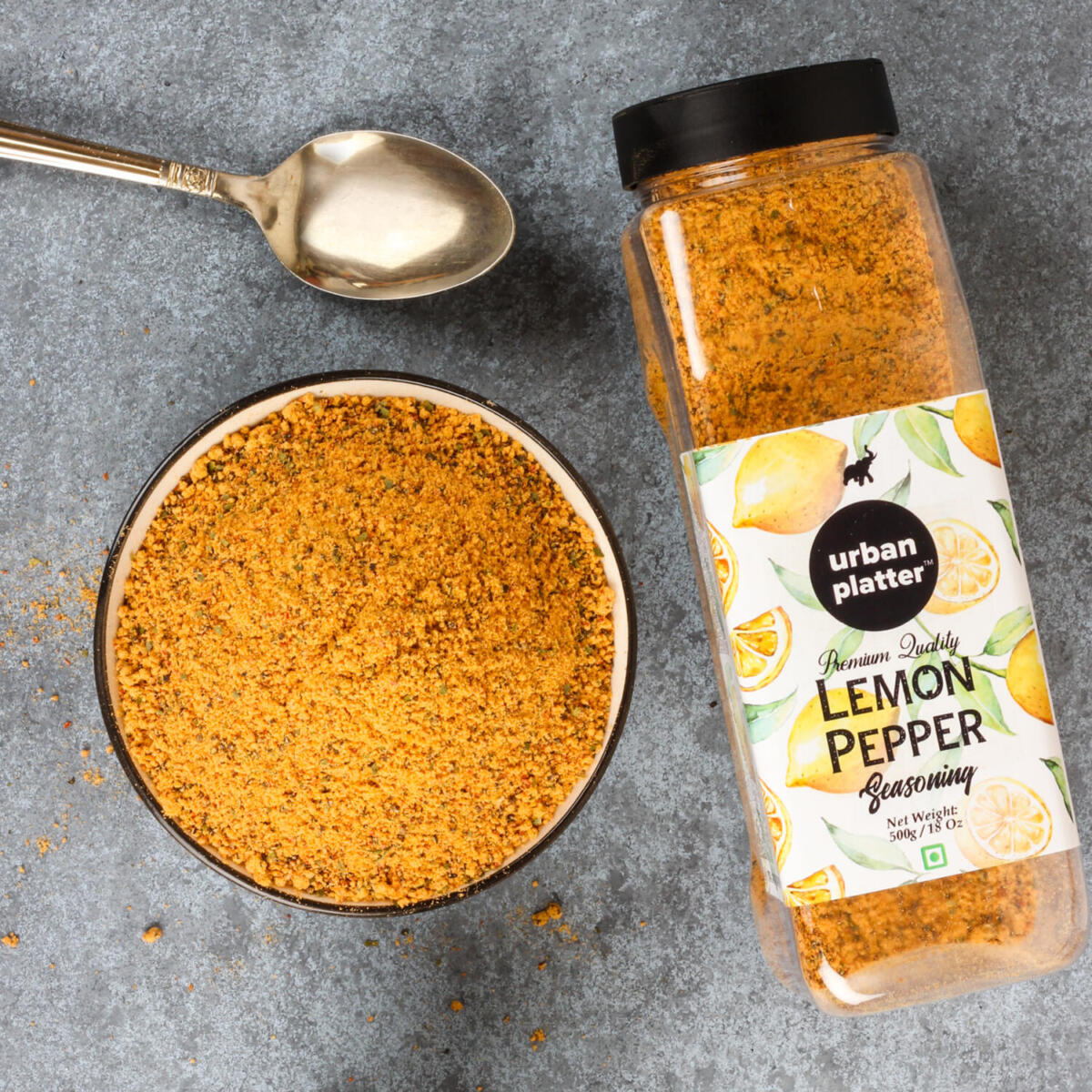 Urban Platter Lemon Pepper Seasoning Mix Shaker Jar, 500g / 18oz ...