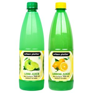 Urban Platter Combo of Lemon Juice and Lime Juice, 700ml
