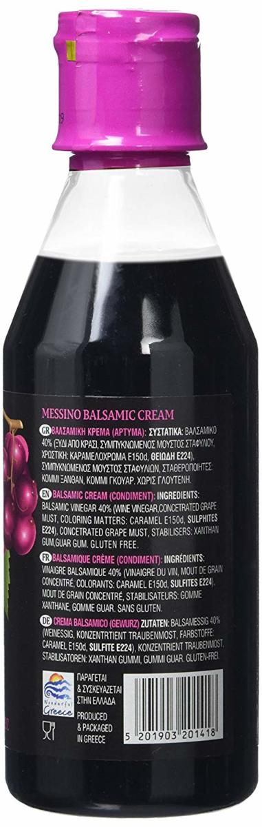 Papadeas Messino Greece Balsamic Cream From Kalamata, 250 ML [Perfect for Salad Dressing, Cocktails Or Amazing Marinades & Great Sauces]