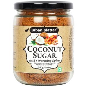 Urban Platter Coconut Sugar with 5 warming spices, 350g/10.6oz [All Natural, Premium Quality, Healthy White Sugar Alternate]