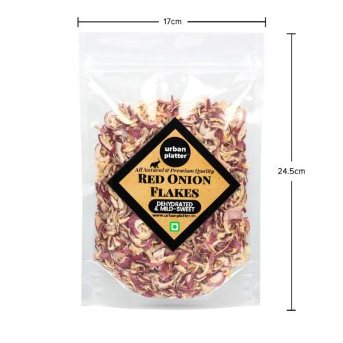Urban Platter Dried Red Onion Flakes, 400g / 14.1oz [All Natural, Premium Quality]