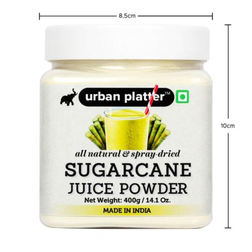 Urban Platter Sugarcane Juice Powder, 400g, / 14.1oz [All Natural, Spray-Dried, Flavorful]