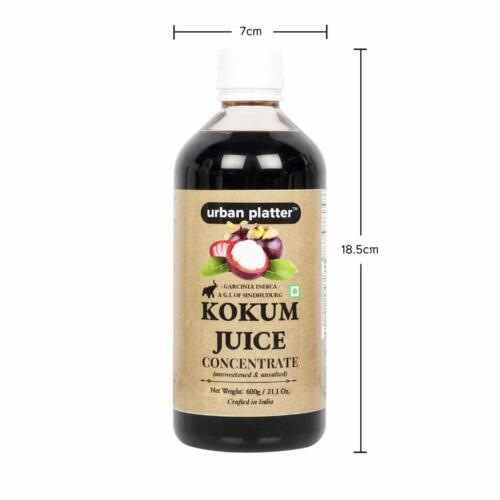 Urban Platter Kokum Juice Concentrate, 600g / 21.16oz [Unsweetened, Unsalted and Appetizer]