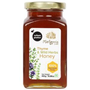 Urban Platter Thyme and Wild Herbs Honey, 450g / 15.8oz [Rich in Micronutrient, Quality Herbs, Made in Greece]