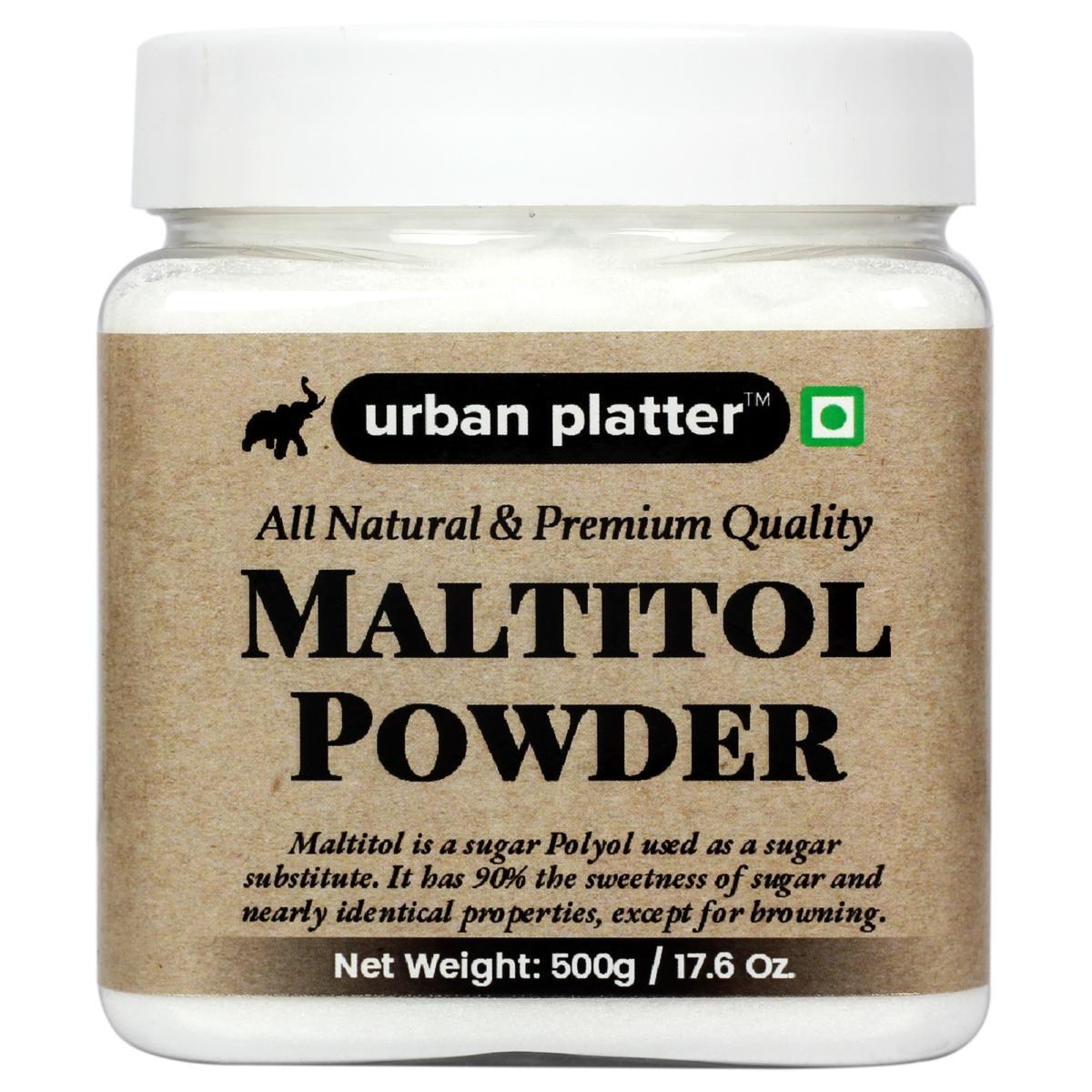 Urban Platter Maltitol Powder, 500g / 17.5oz [All Natural, Premium Quality, Sweetener]