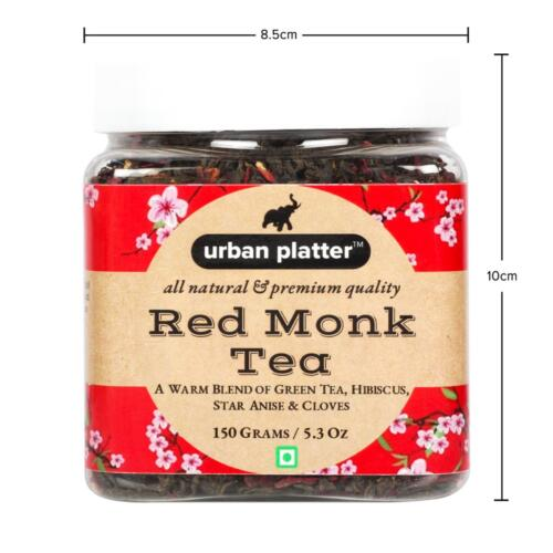 Urban Platter Red Monk Tea, 150g / 5.3oz [Blend of Green Tea, Hibiscus and Spices]