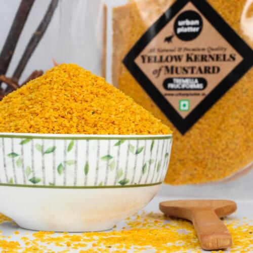 Urban Platter Split Kernels of Mustard, 400g / 14.1oz [All Natural, Premium Quality and Pure]