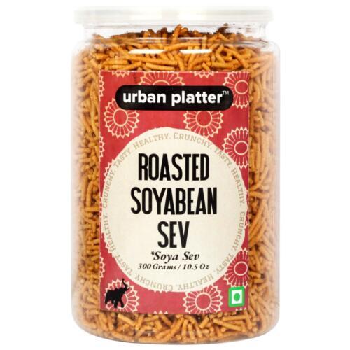 Urban Platter Roasted Soyabean Sev (Soya Sev), 300g / 10.5oz [Crunchy, Spicy, Delicious]