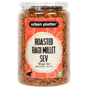 Urban Platter Roasted Ragi Millet Sev (Nachani), 300g / 10.5oz [Crunchy, Spicy, Delicious]
