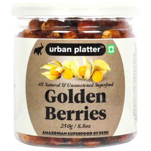 Urban Platter Golden Berries, 250g / 8.8oz [All Natural, Unsweetened Anti-oxidant Rich Berry, Superfood of Peru]