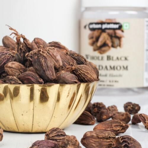 Urban Platter Whole Black Cardamom (Sabut Badi Elaichi), 150g / 5.3oz [Aromatic, Premium Quality, Flavorful]