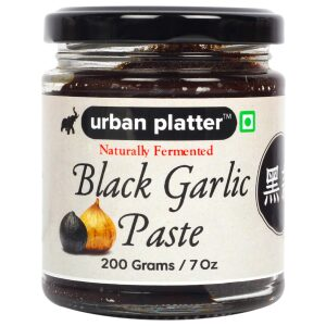 Urban Platter Naturally Fermented Black Garlic Paste, 200g / 7oz [All Natural, Premium Quality, Flavorful]