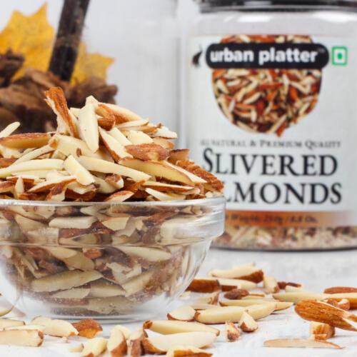 Urban Platter Natural Slivered Almonds, 250g / 8.8oz [Premium Quality, Vitamin Rich and Crunchy]