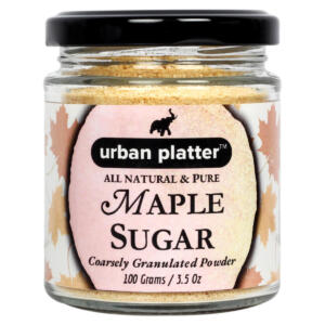 Urban Platter Maple Sugar, 100g / 3.5oz [All Natural, Pure, Coarsely Granulated Powder]
