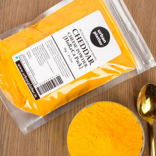 Urban Platter Cheddar Cheese Powder, 1Kg / 35.2oz [Perfect for Pop-corn, Making Cheese Sauce for Nachos, Sprinkling on French Fries] [HoReCa Pack]