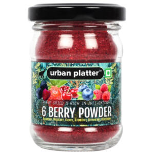 Urban Platter 6 Berry Powder, 50g / 1.8oz [Freeze-Dried, Blueberry, Mulberry, Cherry, Raspberry, Strawberry and Blackberry]