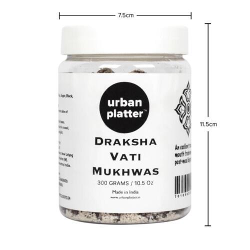 Urban Platter Draksha Vati Mukhwas, 300g / 10.5oz [Mouth Freshener, Digestive, After-Meal Snack]