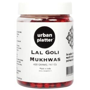 Urban Platter Lal Goli Mukhwas, 400g / 14.1oz [ Mouth Freshener, Digestive, After-Meal Snack]