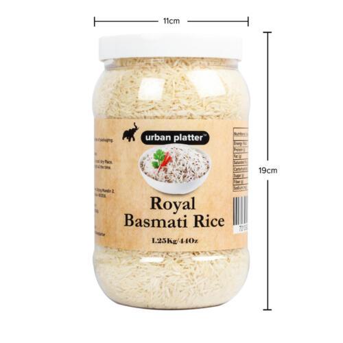 Urban Platter Royal Basmati Rice, 1.25kg / 44oz [All Natural, Aromatic & High Fiber]
