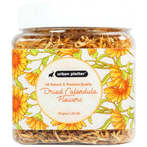 Urban Platter Dried Calendula Flowers, 30g / 1.05oz [All Natural, Premium Quality, Marigold]
