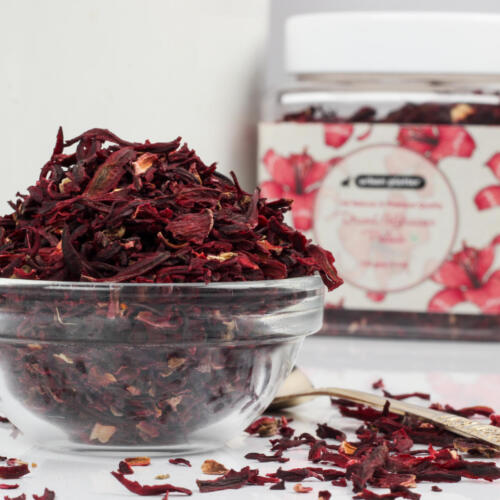 Urban Platter Dried Hibiscus Petals, 150g / 5.2oz [All Natural, Premium Quality, Herbal Tea]