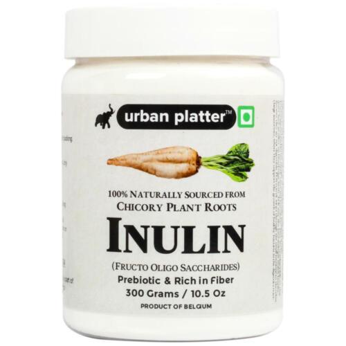 Urban Platter Inulin Powder, 300g / 10.5oz [Fructo Oligo Saccharides, Prebiotic & Rich in Fiber, FOS]
