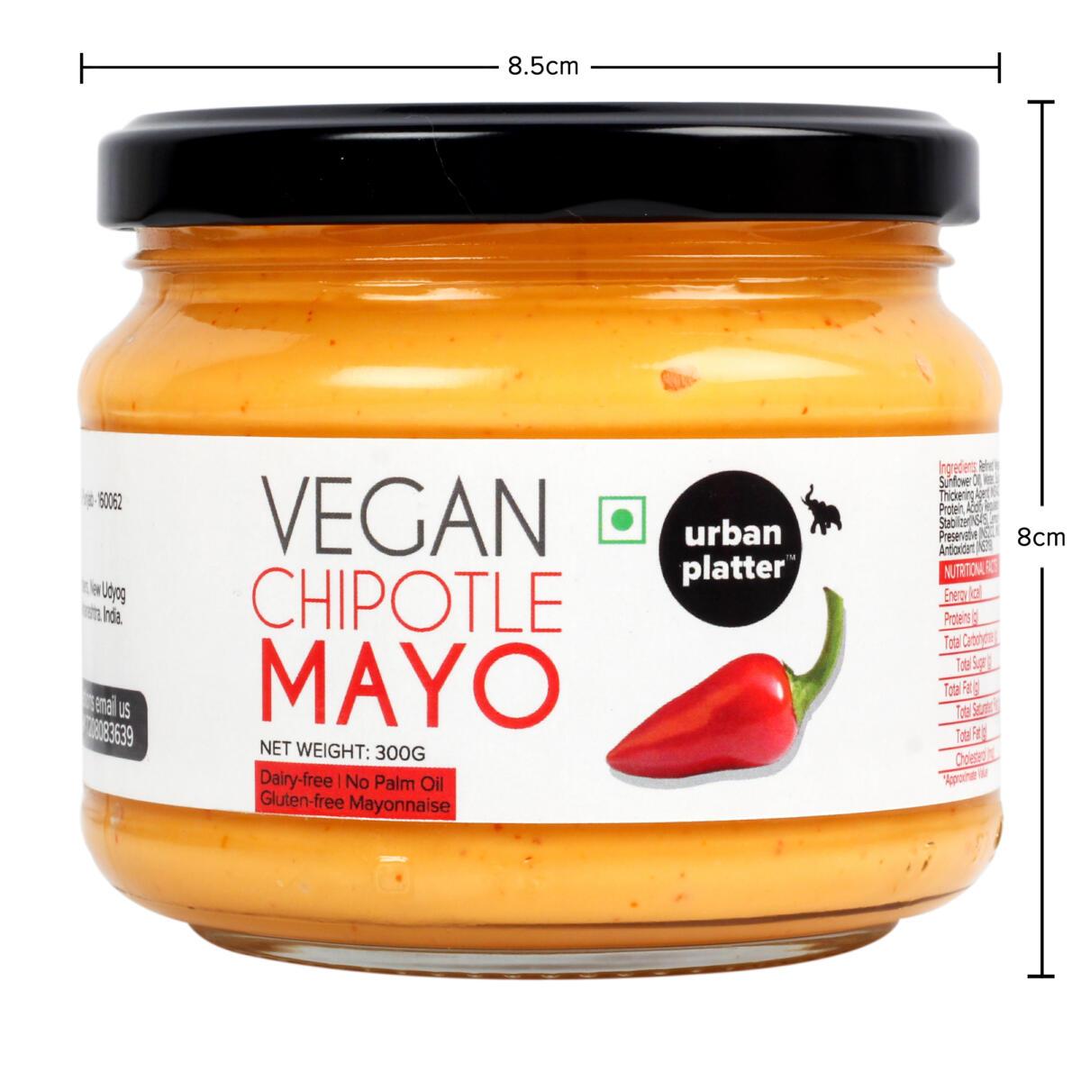 Urban Platter Vegan Chipotle Mayo 300g 10 6oz Dairy Free Mayonnaise No Palm Oil No Trans Fat Urban Platter