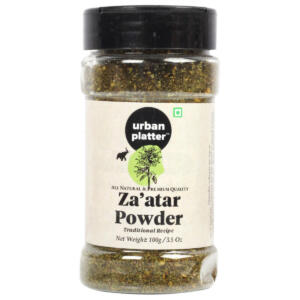 Urban Platter Zaatar Powder Shaker Jar, 100g / 3.5oz [All Natural, Herby, Traditional Lebanese Recipe]