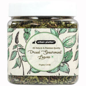 Urban Platter Dried Spearmint Leaves, 70g / 2.4oz [All Natural, Premium Quality Herb, Ideal for Tea Infusions]
