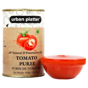 Urban Platter Tomato Puree Can, 400g / 14.1oz [All Natural, Preservative-free, Puree De Tomates]