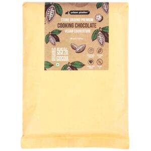 Urban Platter Stone Ground Premium Cooking Chocolate Vegan Couverture, 500g / 17.63oz [55% Cocoa, Single Origin Bean, No Trans Fat]