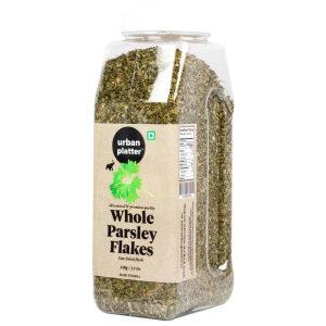 Urban Platter Whole Parsley Flakes Shaker Jar, 100g / 3.5oz [All Natural, Premium Quality, Sun-Dried Herb]