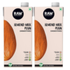 Raw Pressery Almond Milk, Plain Unsweetened, 1L Pouch [Pack of 2]