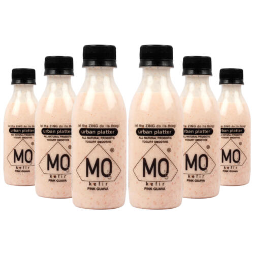 Urban Platter Mo's Kefir, Pink Guava, 200ml [All Natural Probiotic Yogurt Smoothie, Ready to Drink, Pack of 6]