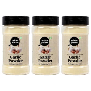 Urban Platter Garlic Powder Shaker Jar, 100g / 3.5oz [Pack of 3, Premium Quality, Dehydrated]