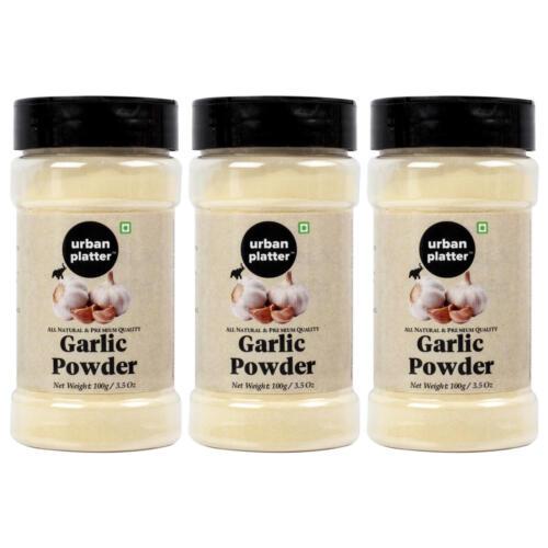 Urban Platter Garlic Powder Shaker Jar, 100g / 3.5oz [Pack of 3, Premium Quality, Dehydrated]