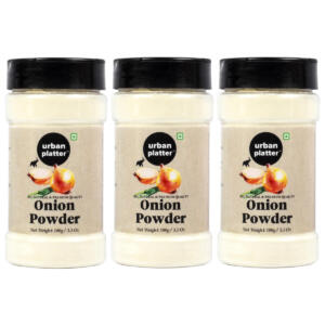 Urban Platter White Onion Powder Shaker Jar, 300g [100g x Pack of 3, Premium Quality, Dehydrated]