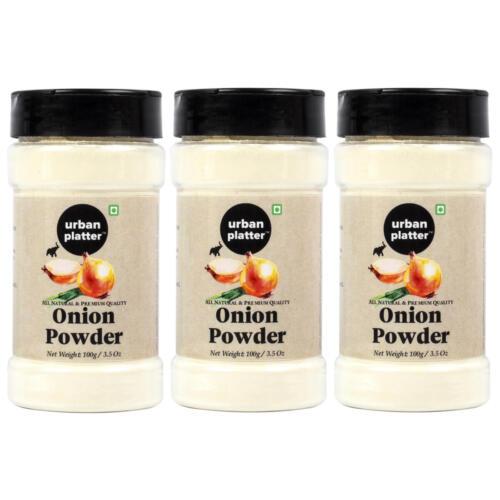 Urban Platter White Onion Powder Shaker Jar, 100g / 3.5oz [Pack of 3, Premium Quality, Dehydrated]