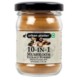Urban Platter 10-in-1 Mushroom Extract, 50g / 1.76oz [Blend of Agaricus Blazei, Chaga, Cordyceps, Enoki, Lion's Mane, Maitake, Polyporus, Reishi, Shiitake, and Turkey Tail]