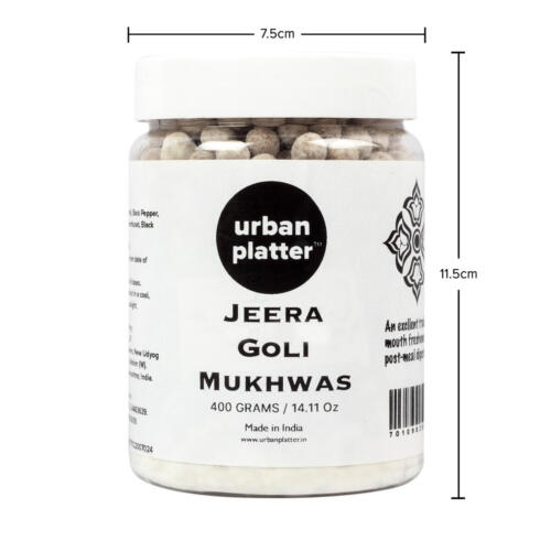 Urban Platter Jeera Goli Mukhwas, 400g / 14.11oz [Mouth Freshener, Digestive, After-Meal Snack]