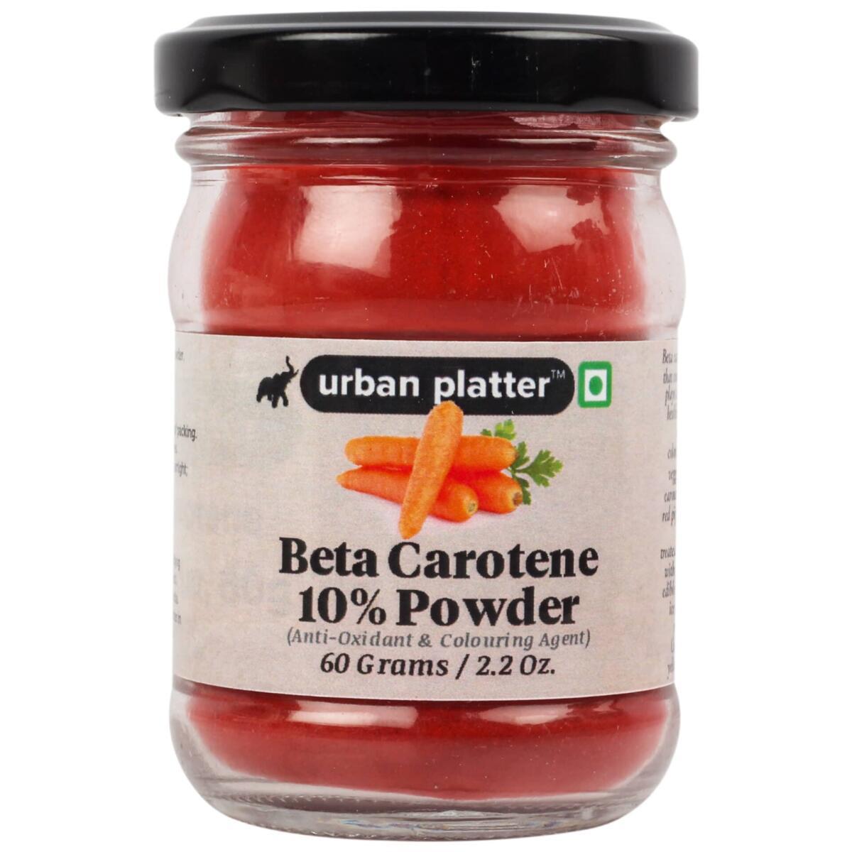 Urban Platter Beta Carotene 10% Powder, 60g / 2.2oz [Provitamin A, Antioxidant & Colouring Agent]