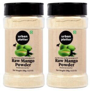 Urban Platter Dehydrated Raw Mango Powder Shaker Jar, 100g / 3.53oz [Pack of 2, Amchur Powder, Flavorful]