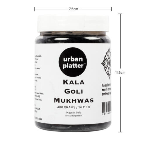 Urban Platter Kala Goli Mukhwas, 400g / 14.10oz [Mouth Freshener, Digestive, After-Meal Snack]