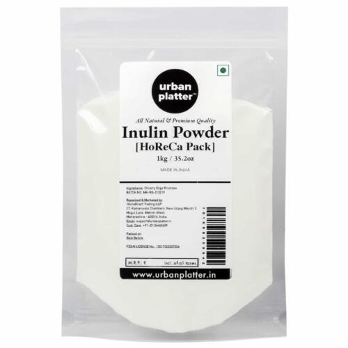 Urban Platter Inulin Powder, 1Kg Bulk Pack [FOS, Prebiotic & Rich in Fiber] [HoReCa]